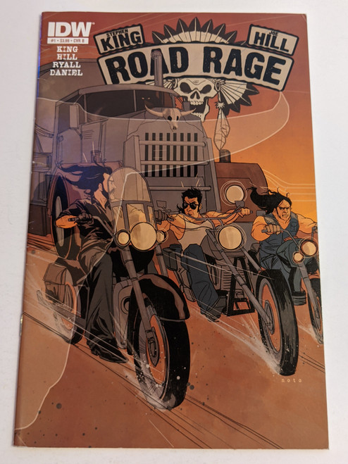 Road Rage: Throttle #1 - Variant Cover - 2012 - IDW Comic - VG