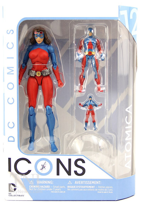 """Atomica Action Figure - DC Icons - 6"""""""