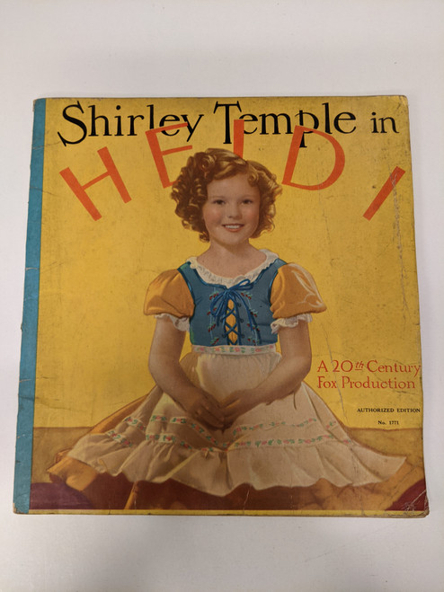 Shirley Temple In Heidi - 1937 - The Saalfield Publishing Company - GD