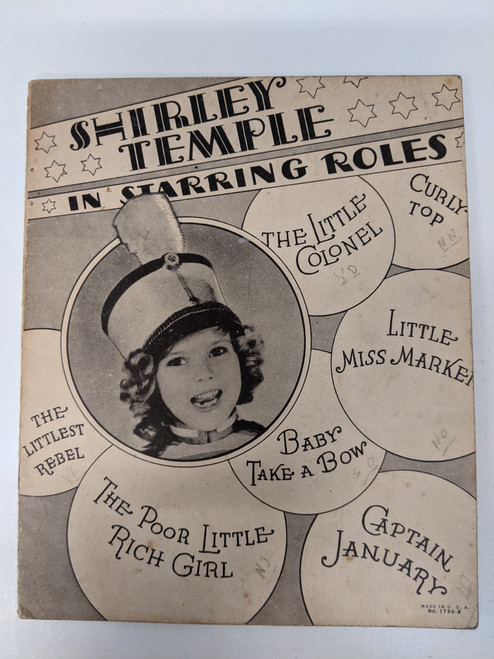 Shirley Temple In Starring Roles - 1936 - Saalfield Publishing Company - GD
