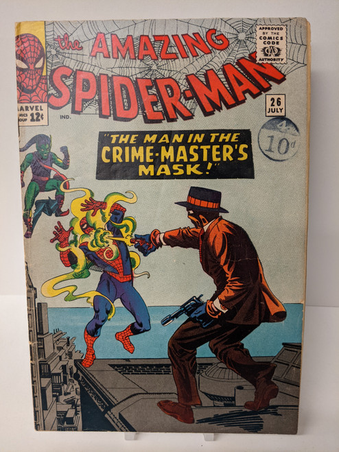 The Amazing Spiderman #26 - 1965 - First Crime Master Appearance - Marvel Comic - FR