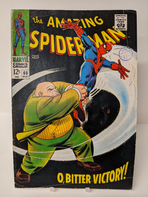 The Amazing Spiderman #60 - 1968 - Marvel Comic - GD
