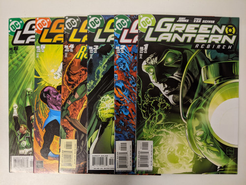 Green Lantern: Rebirth Issues #1-6 Set - 2004 - DC Comics - VG