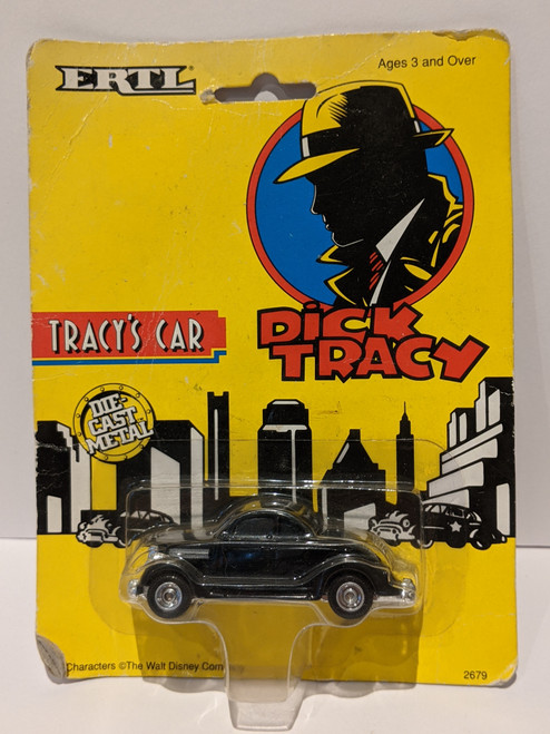 Dick Tracy Tracy's Car - 1990 - Disney - VG/Sealed