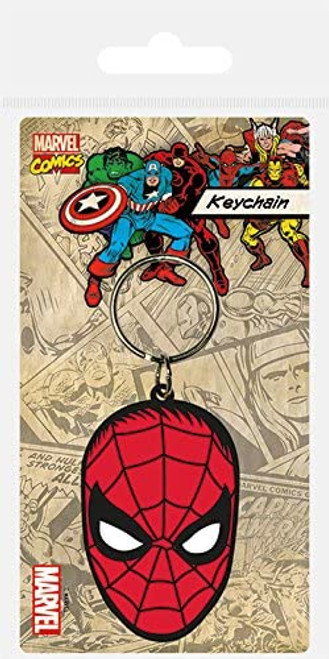 Spiderman Rubber Keyring - Marvel Comics