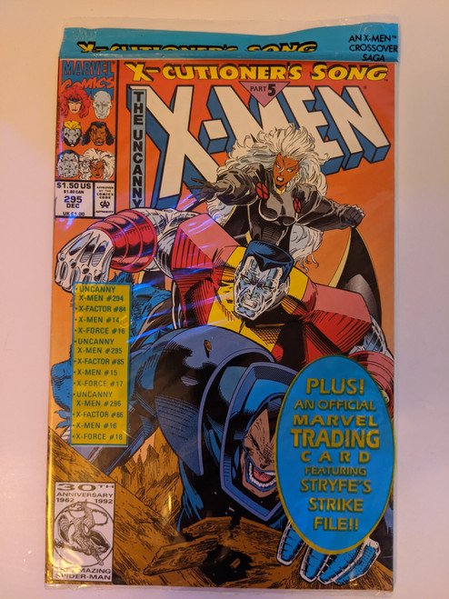 Uncanny X-Men (Volume 1) #295 - X-Cutioner's Song Part Five, Polybagged With Trading Card -1992 - Marvel Comics - NEW