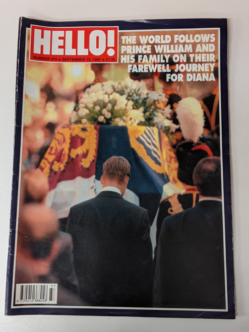 Hello! Magazine #475 - Princess Diana Funeral Edition - 1997 - Hello Ltd - VG