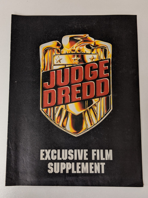 Judge Dredd Exclusive Film Supplement - 1995 - Rebellion Developments - VG