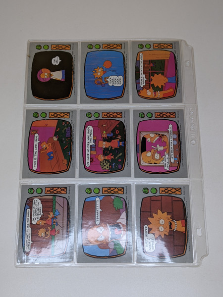 The Simpsons Topps cards - 1990 - 9 Card Bundle - VG
