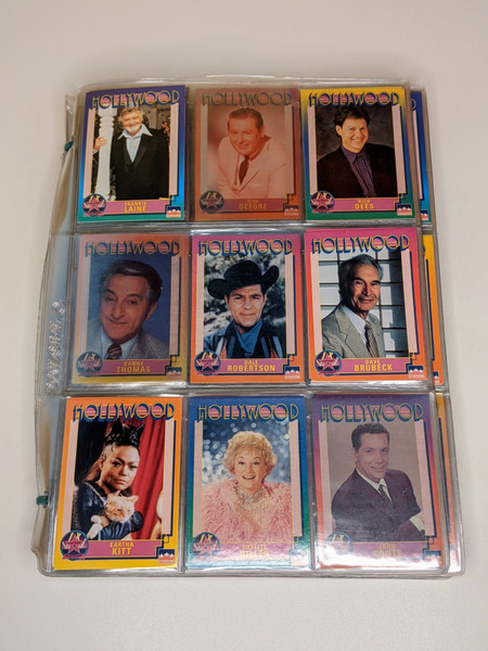 Hollywood Starline Inc cards - 1991 - 136 Card Bundle - VG