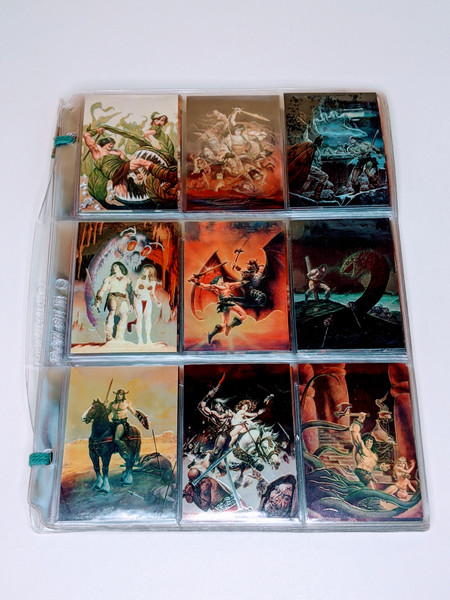 Conan The Barbarian Comic Images Chromium Cards - 1993 - 74 Card Bundle - VG