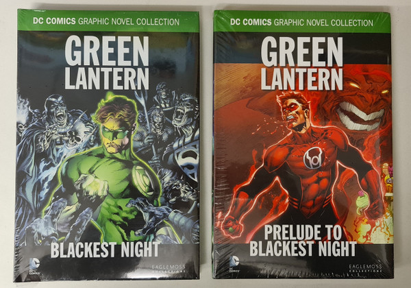 Blackest Night Hardback Bundle - Green Lantern Prelude to Blackest Night HC + Blackest Night HC - DC Eaglemoss Upsell Editions