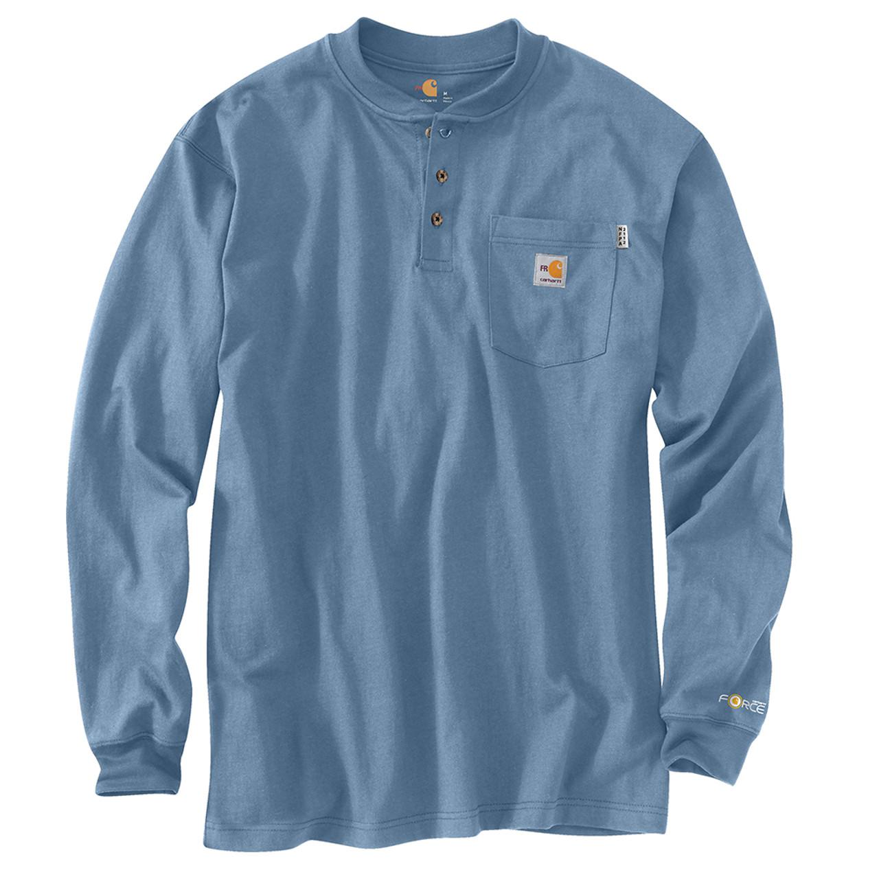 e0211945476d3d 100237 Men's Flame Resistant Force Cotton Long Sleeve Henley