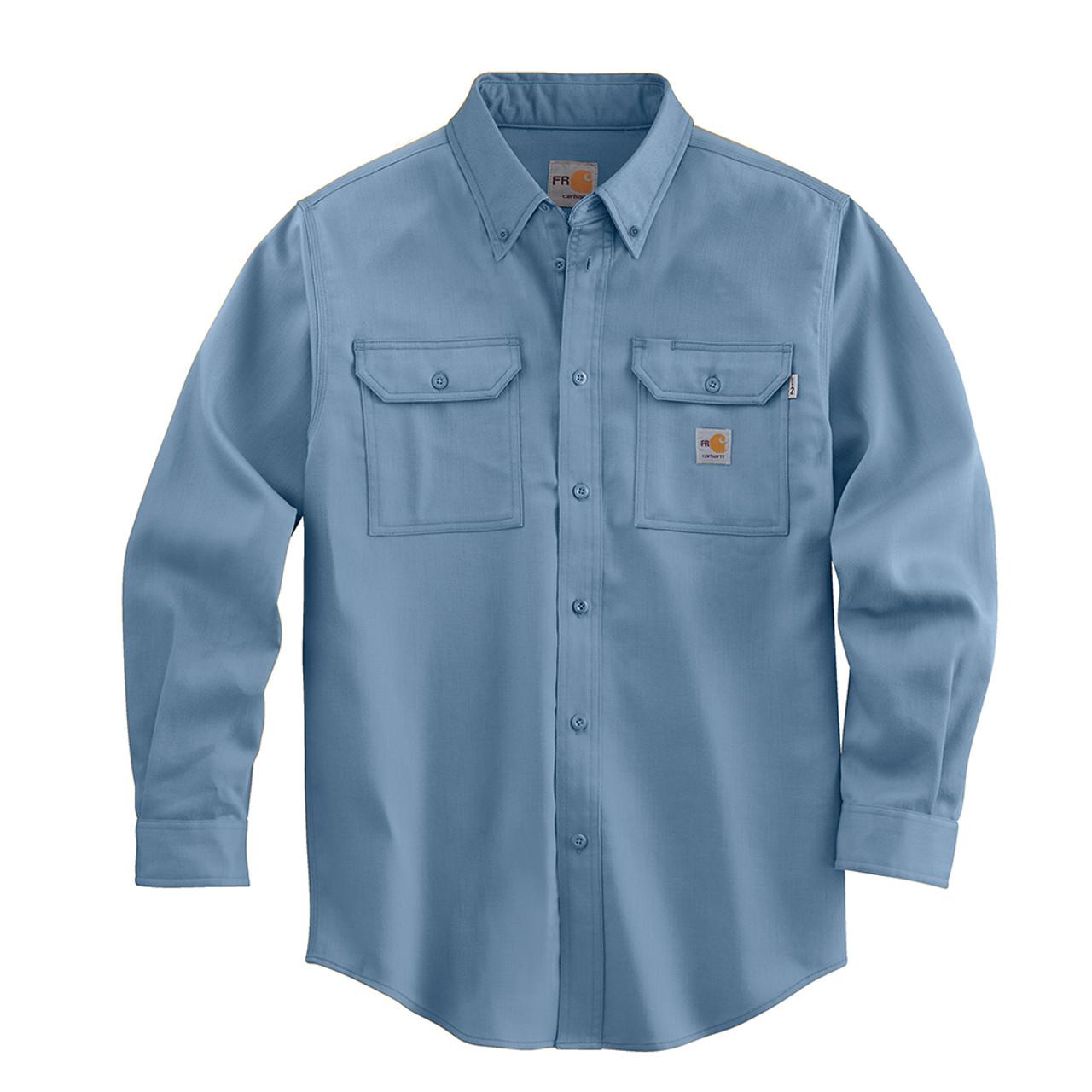 a76c56692abd FRS003 Men s Flame Resistant Lightweight Twill Shirt