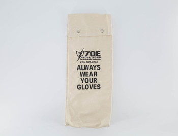 "70E Solutions Canvas Glove Bag For 18"" Glove Lengths (Gloves Not Included)"
