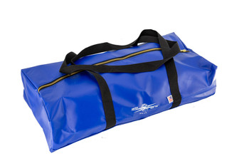 Ground Set Bag, Blue Vinyl, Web Shoulder Style Carry Handle