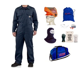 10 cal/cm²  70E Solutions Coverall Kit with AS1000HAT Face Shield and Class 00 Glove Kit
