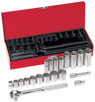 20-Piece 3/8-Inch Drive Socket Wrench Set ## 65508 ##