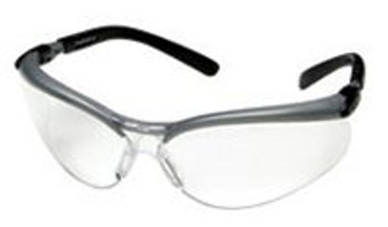 3M BX Safety Glasses With Black And Silver Frame And Clear Polycarbonate Anti-Fog Lens ## 11380-00000 ##