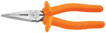 """Klein Long-Nose Pliers 8"""" Side-Cutting+Skinning, Heavy-Duty  - 1,000 V ## D203-8N-INS ##"""
