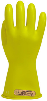 "Salisbury Class 00 Gloves, 11"" Length, 500 VAC, Yellow ## E0011Y ##"