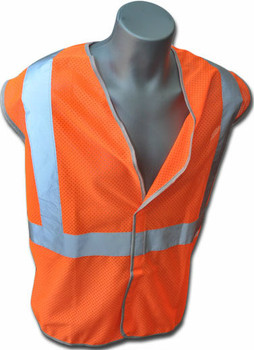Estex Class 2 Orange Non-FR Polyester Knit Mesh ## 1615-2O-RT ##