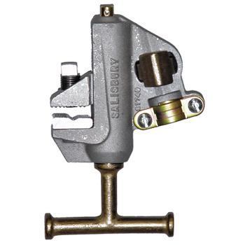 "Salisbury By Honeywell Aluminum Flat Jaw Grounding Clamp With ""T"" Screw - No Strain Relief Sleeve ## 24405 ##"