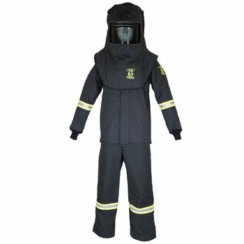 65 Cal/cm2 Oberon True Color Grey Arc Flash Suit (Bibs, Coat, Hood)