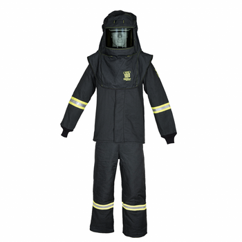 100 cal/cm2 Oberon True Color Grey  Arc Flash suit (Bibs, Coat, Hood)