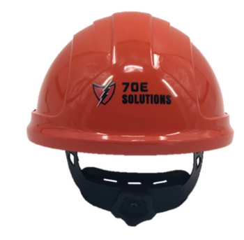 12 cal/cm² Weight Balancing face shield with PrismShield with North Zone hard hat