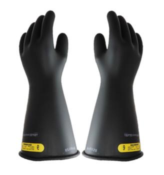 "Class 2 Gloves 16"" Length 17,000 VAC Salisbury Electriflex™ NG216B Black Natural Rubber Gloves"