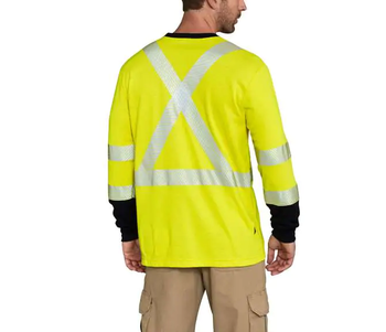 Flame-Resistant High-Vis Force Long-Sleeve T-Shirt Class 3