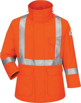 Bulwark Flame Resistant ComforTouch® Parka CSA Compliant Reflective Striping JLPSOR  -  34 calories/cm²