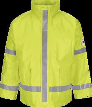 Bulwark FR Hi Visibility Rain Jacket JXN6YE