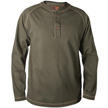 J-Tek Cotton Long Sleeve Henley with 3 button closure - JW22015