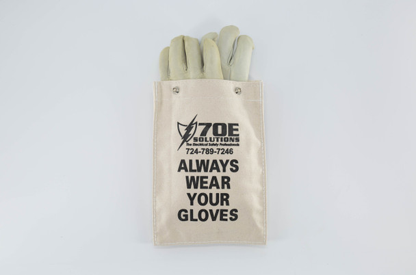 """70E Solutions Canvas Glove Bag For 11"""" Glove Lengths (Gloves Not Included)"""