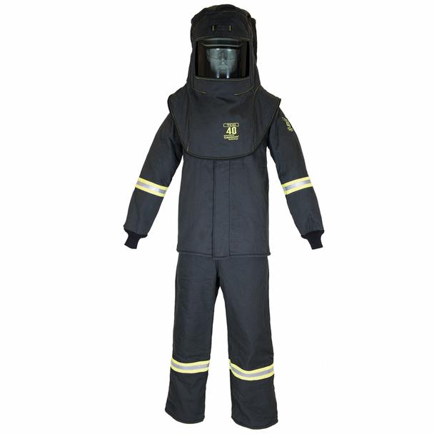 40 Cal/cm2 Oberon True Color Grey Arc Flash 40 Cal Suit (Hood, Coat, Bib)