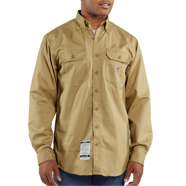 Carhartt 8.6 cal/cm2 Men's Flame Resistant Classic Twill Shirt - FRS160