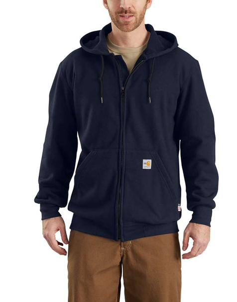 Carhartt 9.9 Cal/Cm² Flame-Resistant Rain Defender® Hooded Heavyweight Zip-Front Sweatshirt