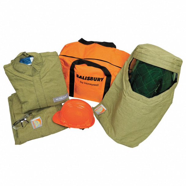 40.0 cal./cm2 Arc Flash Protection Clothing Kit, Green