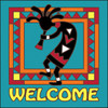 6x6 Tile Welcome KokoTurquoise