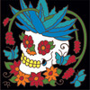6x6 Tile Day Of The Dead Aloe Cactus Head 8321A