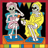 6x6 Tile Day of the Dead Skiier 7587A