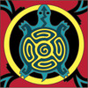 6x6 Tile Native American Turtle Design