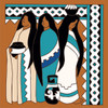 6x6 Tile Native American Women with Pottery
