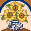 12x12 Tile Mural Sunflowers