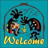 6x6 Tile Welcome Koko Musicians Turquoise 7956TQ
