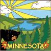 6x6 Tile Minnesota Bear