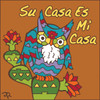 6x6 Tile Su Casa Southwest Styled Owl Terracotta