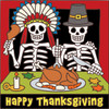 6x6 Tile Day of the Dead Thanksgiving Feast 7496A